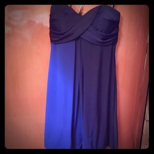 Xscape blue and black ombre strapless dress size 8